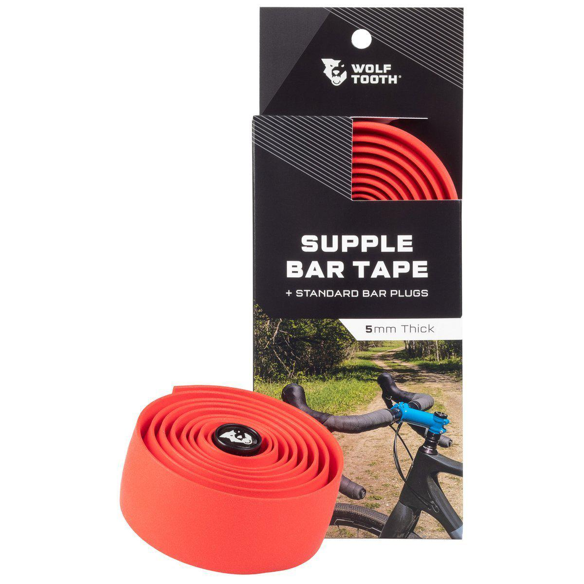 Wolf Tooth-Wolf Tooth Supple Bar Tape-Red-UNI-WTSUPPLETAPERED-saddleback-elite-performance-cycling