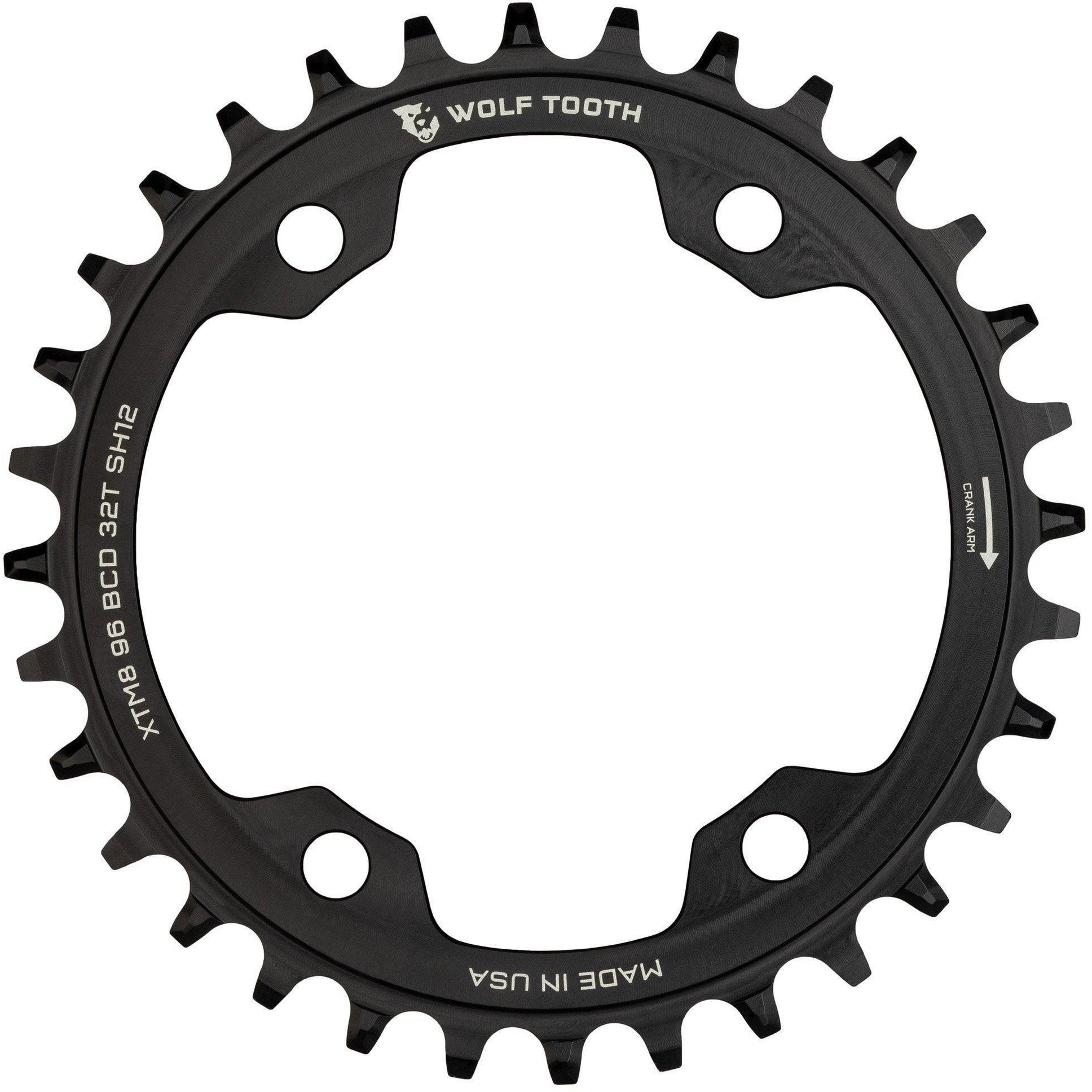 Wolf Tooth-Wolf Tooth 96 BCD Chainring for XT M8000 Shimano 12 speed-30T-WTXTM8K9630SH12-saddleback-elite-performance-cycling