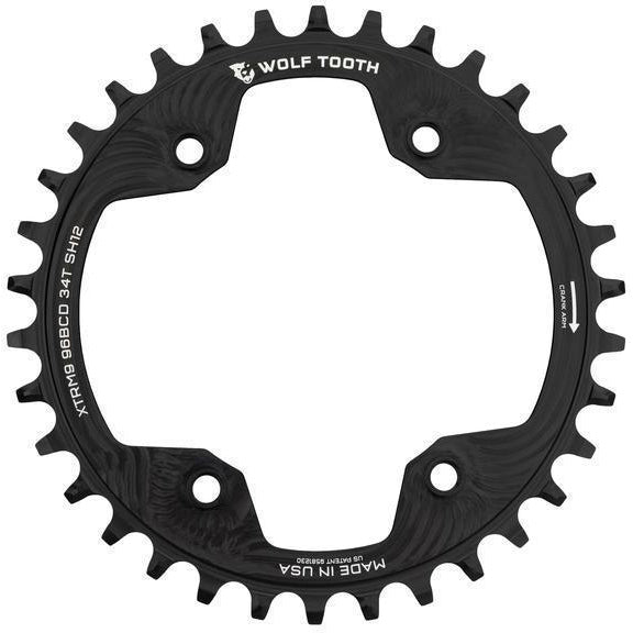 Wolf Tooth-Wolf Tooth 96 BCD Shimano XTR M9000/M9020 Chainring - HG+-Black-34t-WTXTR9634SH12-saddleback-elite-performance-cycling
