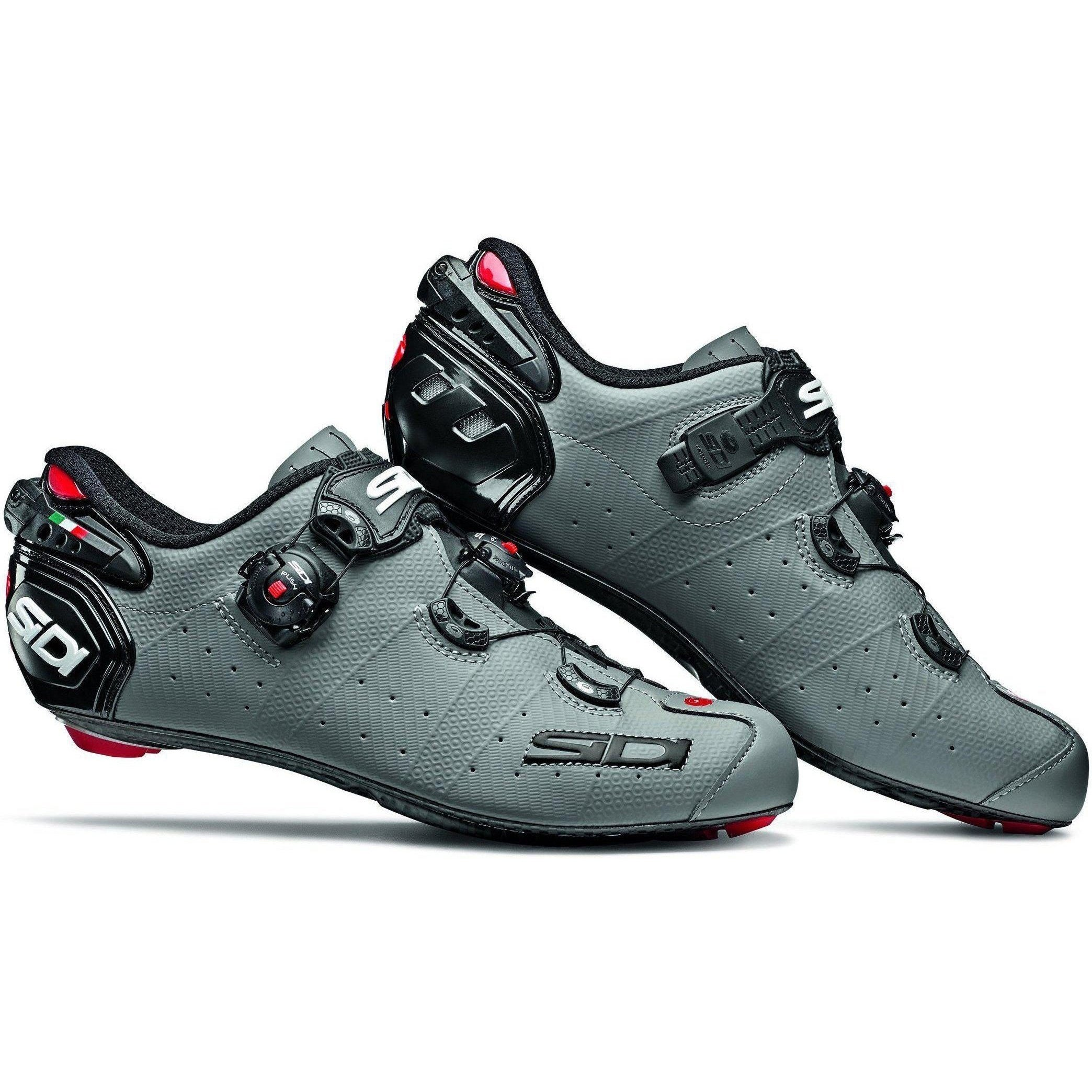 Sidi-Sidi Wire 2 Carbon Road Shoes - Matt-Matt Grey/Black-38-SIWIRE2CMATGROPNE38-saddleback-elite-performance-cycling