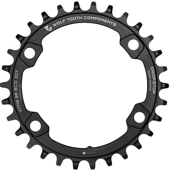 Wolf Tooth-Wolf Tooth 96 BCD M8000 Chainring-Black-30t-WTXTM8K9630-saddleback-elite-performance-cycling