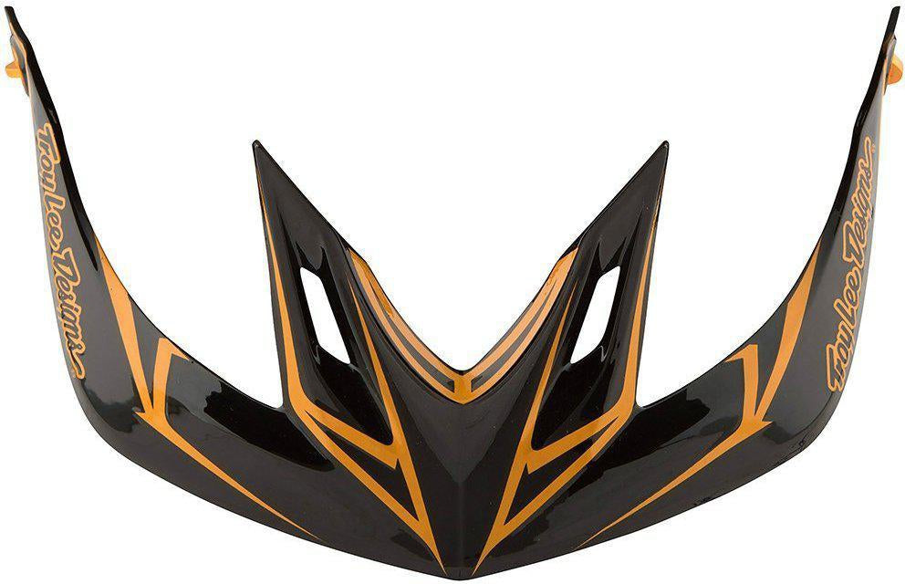 Troy Lee Designs-Troy Lee Designs A2 Helmet Replacement Visor-PINSTRIPE BLACK / GOLD-A2-TLD185018200-saddleback-elite-performance-cycling