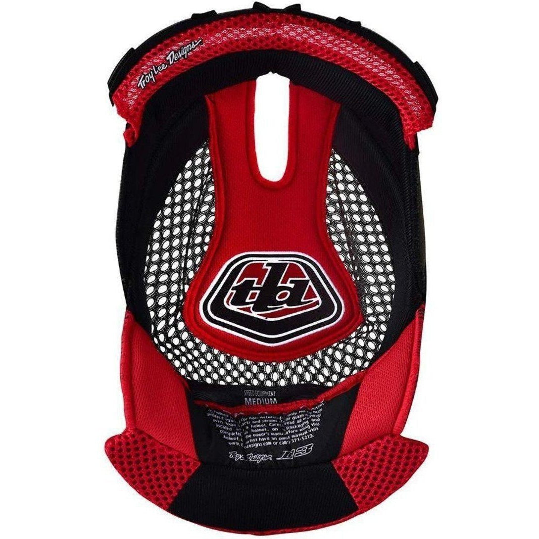 Troy Lee Designs-Troy Lee Designs D3 Helmet Replacement Headliner-RED-XS-TLD148003401-saddleback-elite-performance-cycling