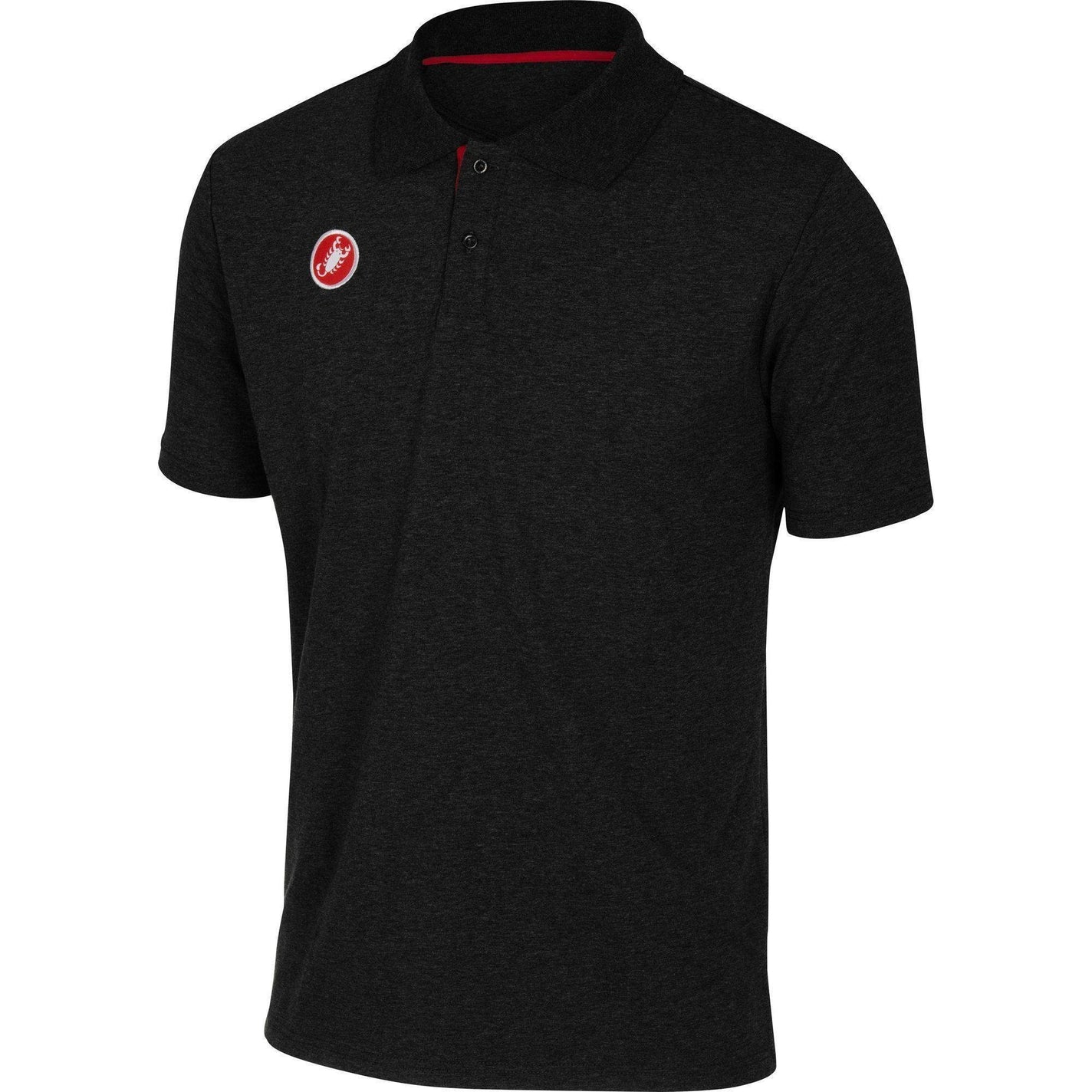 Castelli-Castelli Race Day Polo Shirt-Black-S-CS130960102-saddleback-elite-performance-cycling
