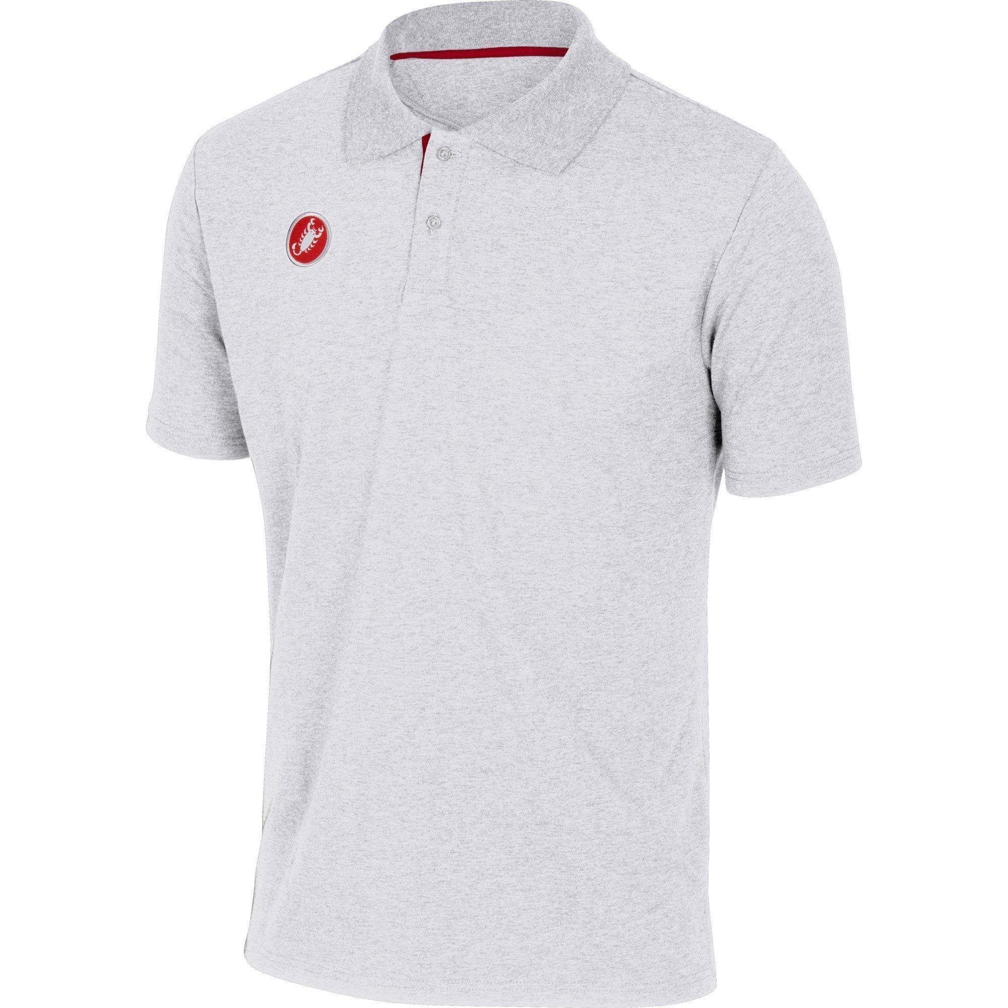 Castelli-Castelli Race Day Polo Shirt-White-S-CS130960012-saddleback-elite-performance-cycling