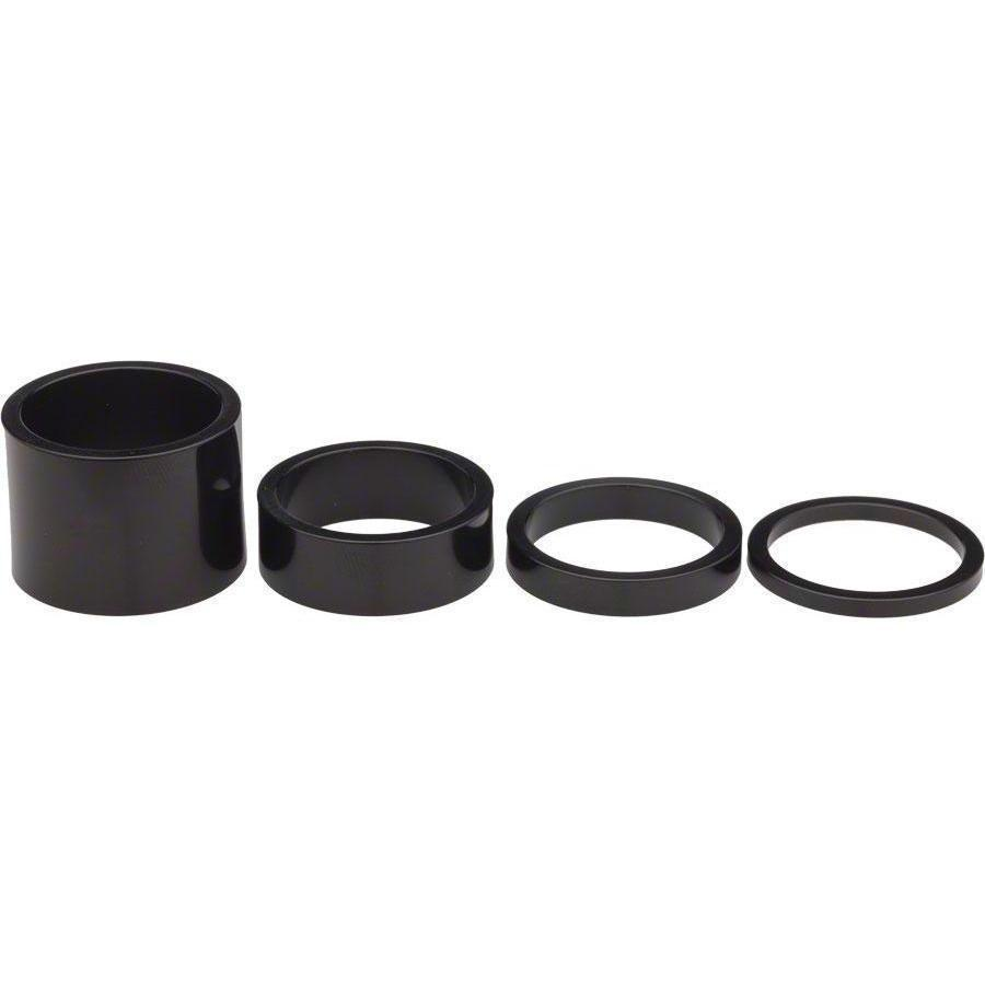 "Chris King-Chris King 1 1/8"" Headset Spacer Kit-Black-1 1/8-CKPHS213B-saddleback-elite-performance-cycling"