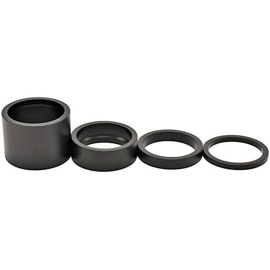 "Chris King-Chris King 1 1/8"" Headset Spacer Kit-Matte Jet-1 1/8-CKPHS213J-saddleback-elite-performance-cycling"