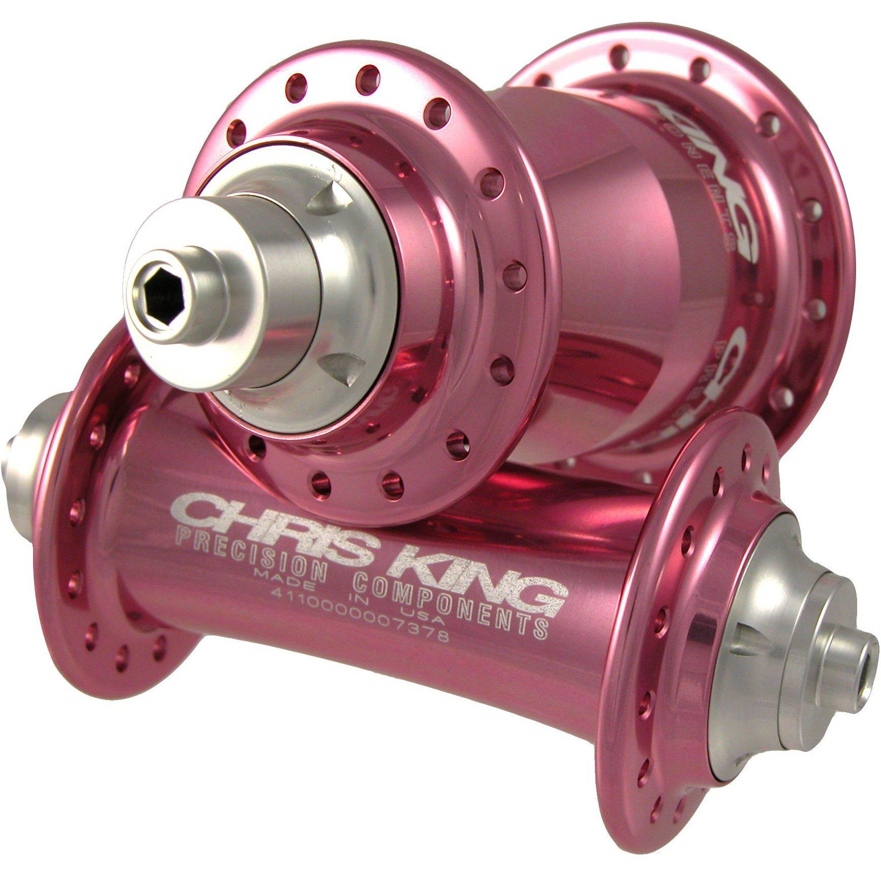 Chris King-Chris King Classic Rear 32h Low Flange Hubshell - Pink-Pink-32h-CKPHB62032K-saddleback-elite-performance-cycling