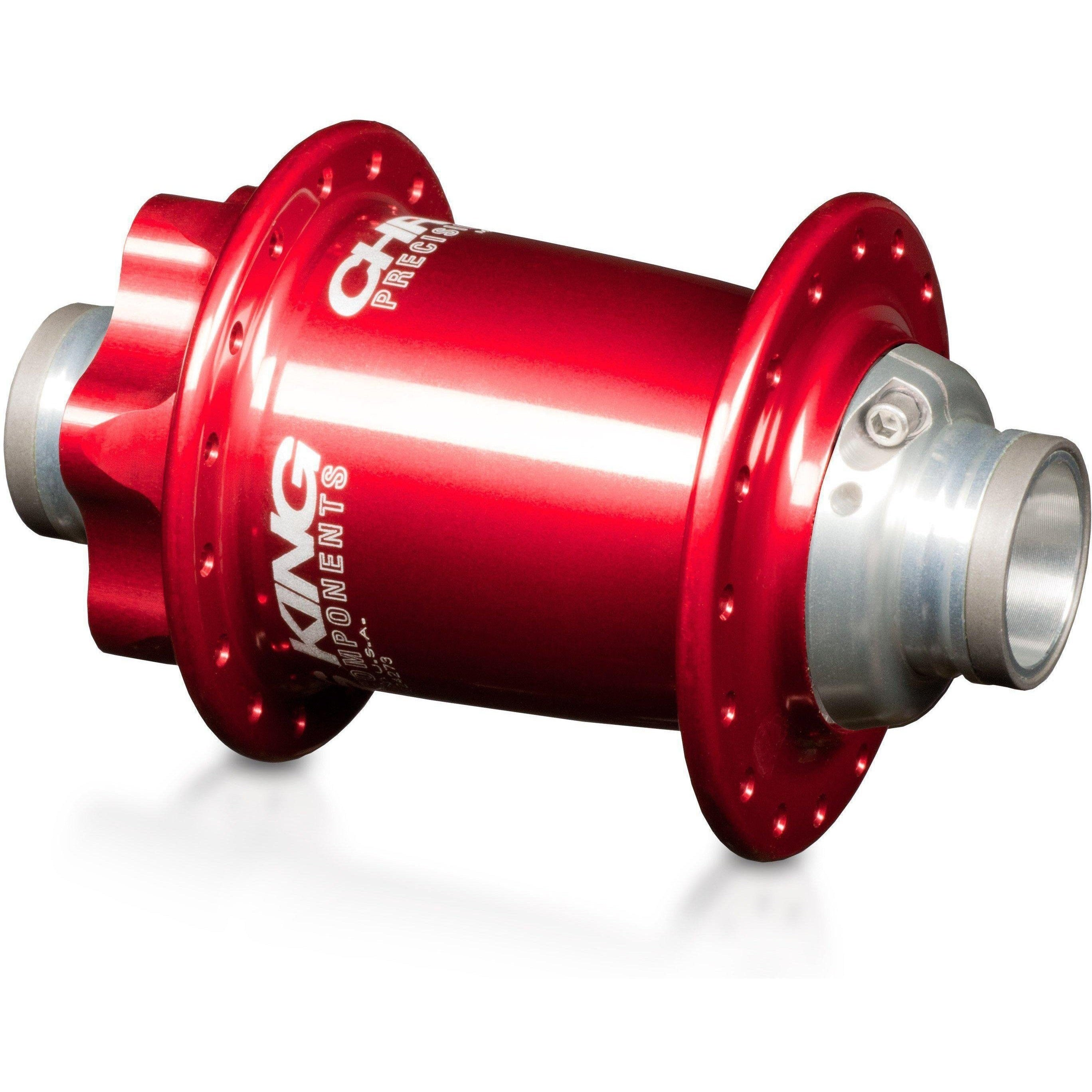 Chris King-Chris King ISO MTB Front Hub LD 100x15 Thru-Red-28h-CKFR1053-saddleback-elite-performance-cycling