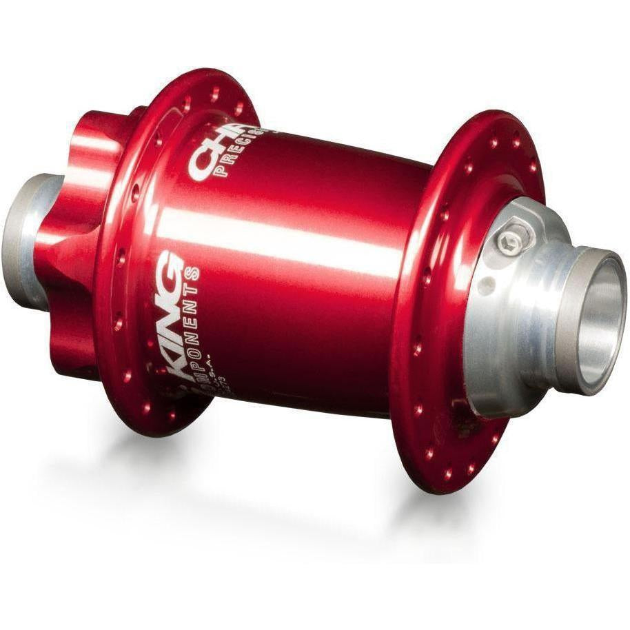 Chris King-Chris King ISO MTB Front Hub LD 110x20 Thru - Ceramic Bearings-Red-28h-CKFR1056-saddleback-elite-performance-cycling
