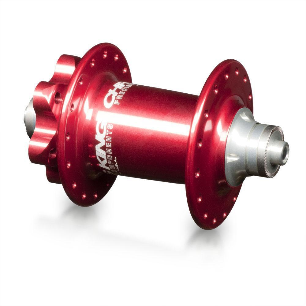 Chris King-Chris King ISO MTB Front Hub SD 100x15 Thru-Red-28h-CKHBIF28R1I-saddleback-elite-performance-cycling