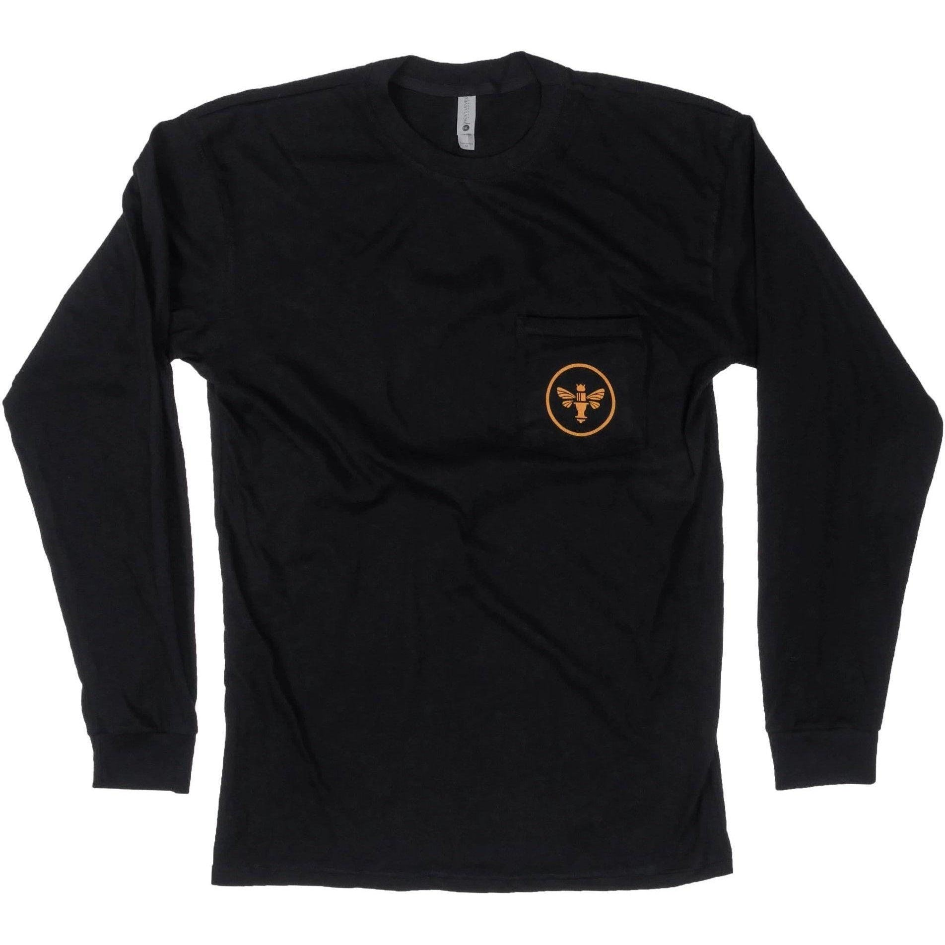 Chris King-Chris King King Bee Long Sleeve Pocket T-Shirt-X-Small-Black-CKC0571-saddleback-elite-performance-cycling