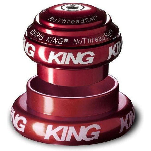 Chris King-Chris King NoThreadSet Tapered Headset-Red-1-1/8 to 1-1/2 - EC34/EC49-CKFR0085-saddleback-elite-performance-cycling