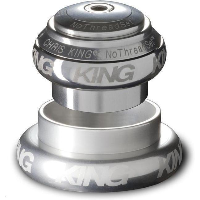 Chris King-Chris King NoThreadSet Tapered Headset-Silver-1-1/8 to 1-1/2 - EC34/EC44-CKFS0150-saddleback-elite-performance-cycling