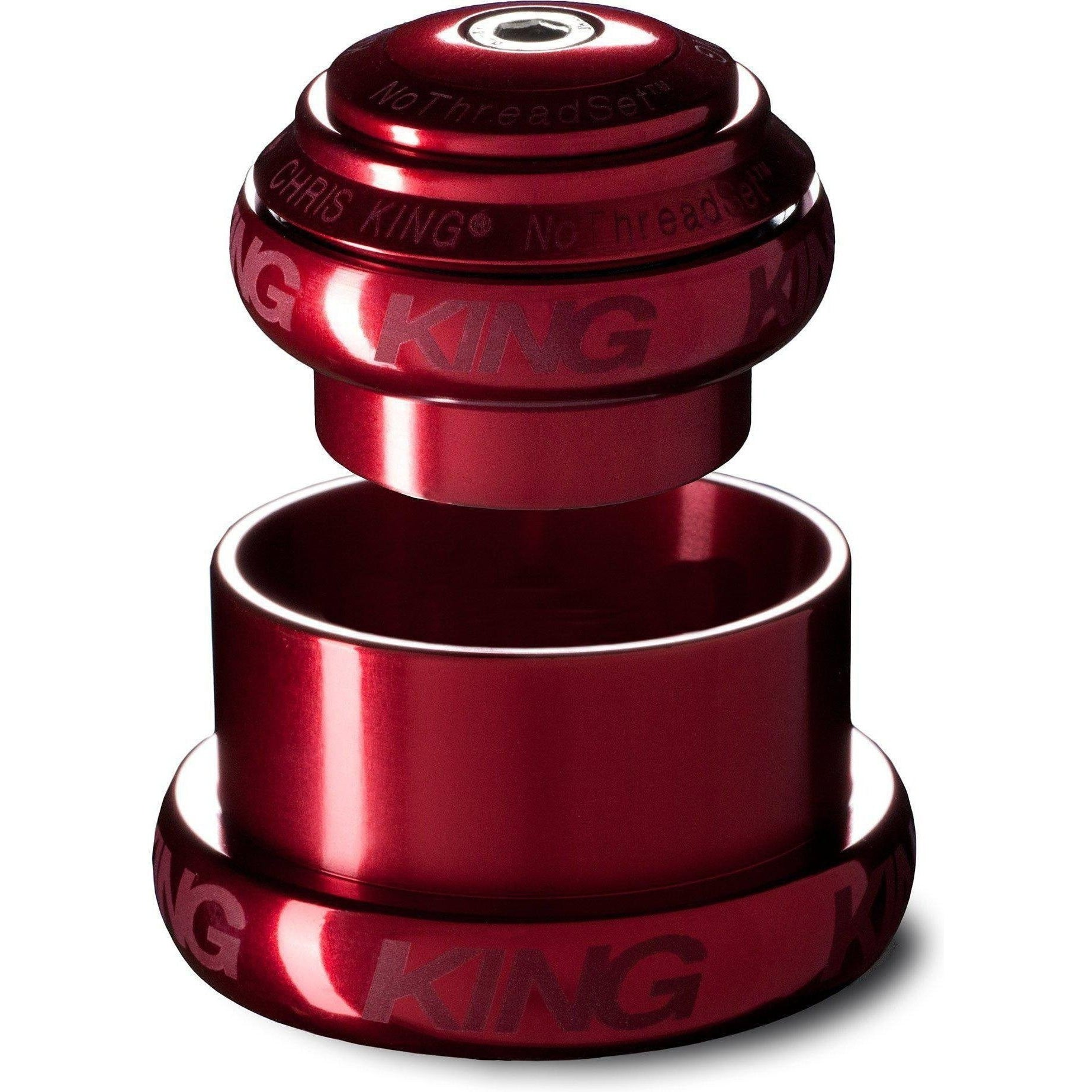 Chris King-Chris King NoThreadSet Tapered SV Headset-Red-1-1/8 to 1-1/2 - EC34/EC49-CKFR0047-saddleback-elite-performance-cycling