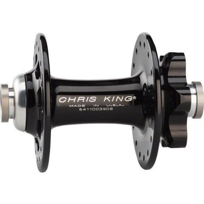 Chris King-Chris King R45D Front 6 Bolt Disc Hub 100x12 Thru-Black-28h-CKFB1180-saddleback-elite-performance-cycling