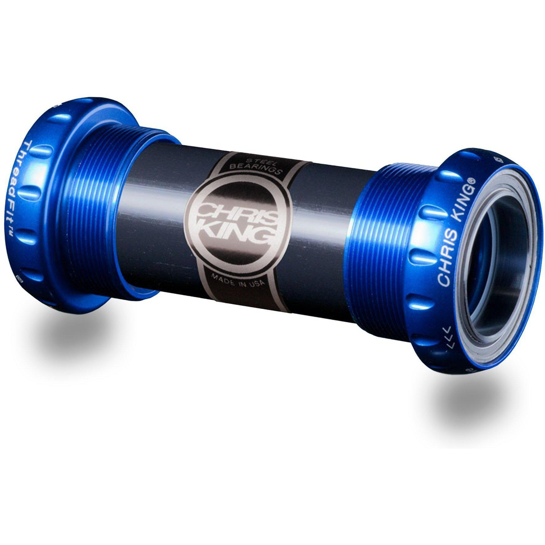 Chris King-Chris King Thread Fit 24 Bottom Bracket-BSA x 24 x 68 -73mm-Navy-CKFN0810-saddleback-elite-performance-cycling
