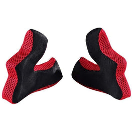Troy Lee Designs-Troy Lee Designs D3 Helmet Replacement Cheekpad Padding-RED-XS-TLD149003401-saddleback-elite-performance-cycling