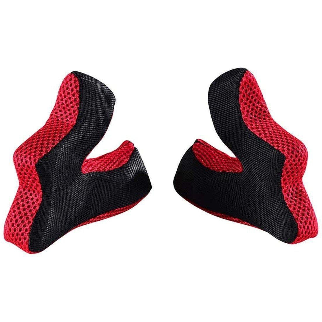 Troy Lee Designs-Troy Lee Designs D3 3D Replacement Cheekpad Padding-Red-XS-TLD149144401-saddleback-elite-performance-cycling
