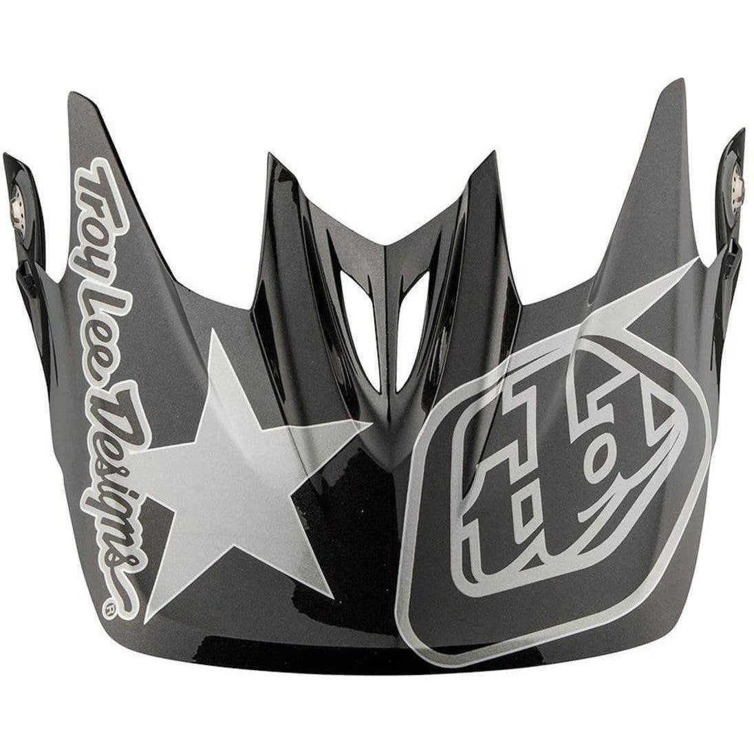 Troy Lee Designs-Troy Lee Designs D3 Helmet Replacement Visor-FREEDOM BLACK/GRAY-D3-TLD157142290-saddleback-elite-performance-cycling