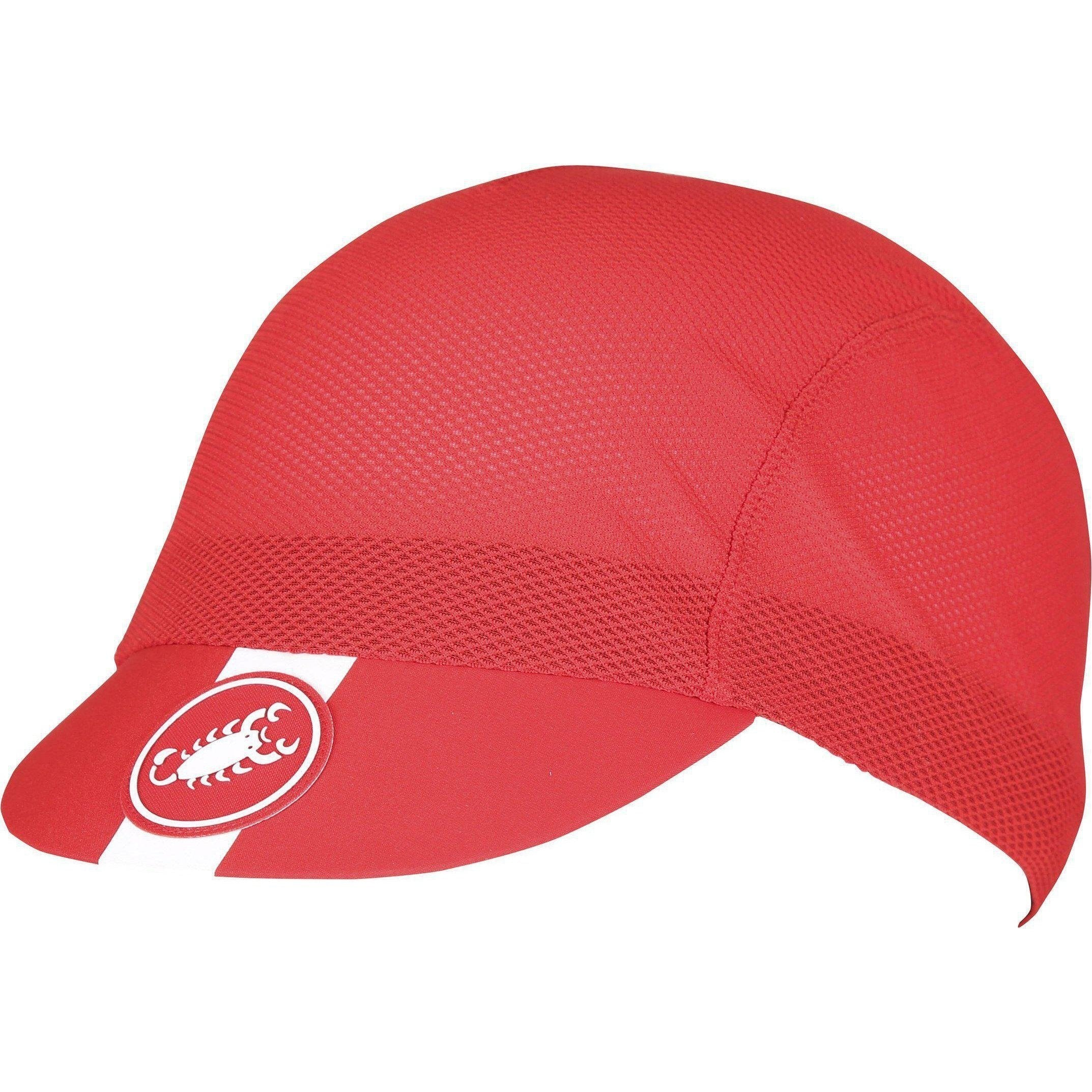 Castelli-Castelli A/C Cycling Cap-Red-Uni-CS180240238-saddleback-elite-performance-cycling