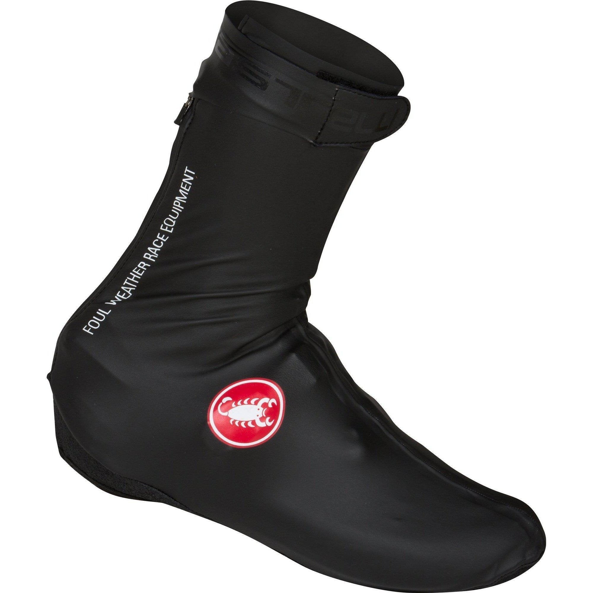 Castelli-Castelli Pioggia 3 Shoe Covers-Black-S-CS165390102-saddleback-elite-performance-cycling