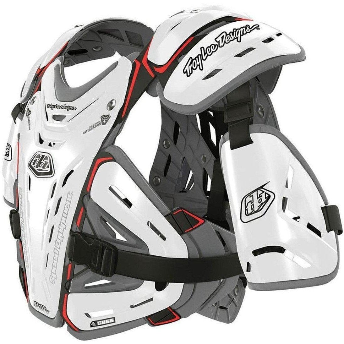 Troy Lee Designs-Troy Lee Designs 5955 Youth Body Guard Protection-WHITE-YOUTH-TLD503003103-saddleback-elite-performance-cycling