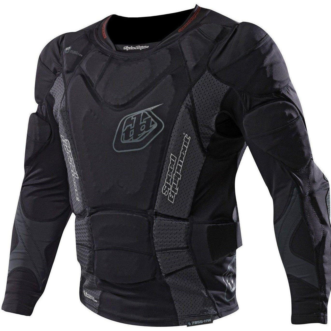 Troy Lee Designs-Troy Lee Designs 7855 Youth Upper Protection Long Sleeve Shirt-BLACK-Y-M-TLD509003201-saddleback-elite-performance-cycling