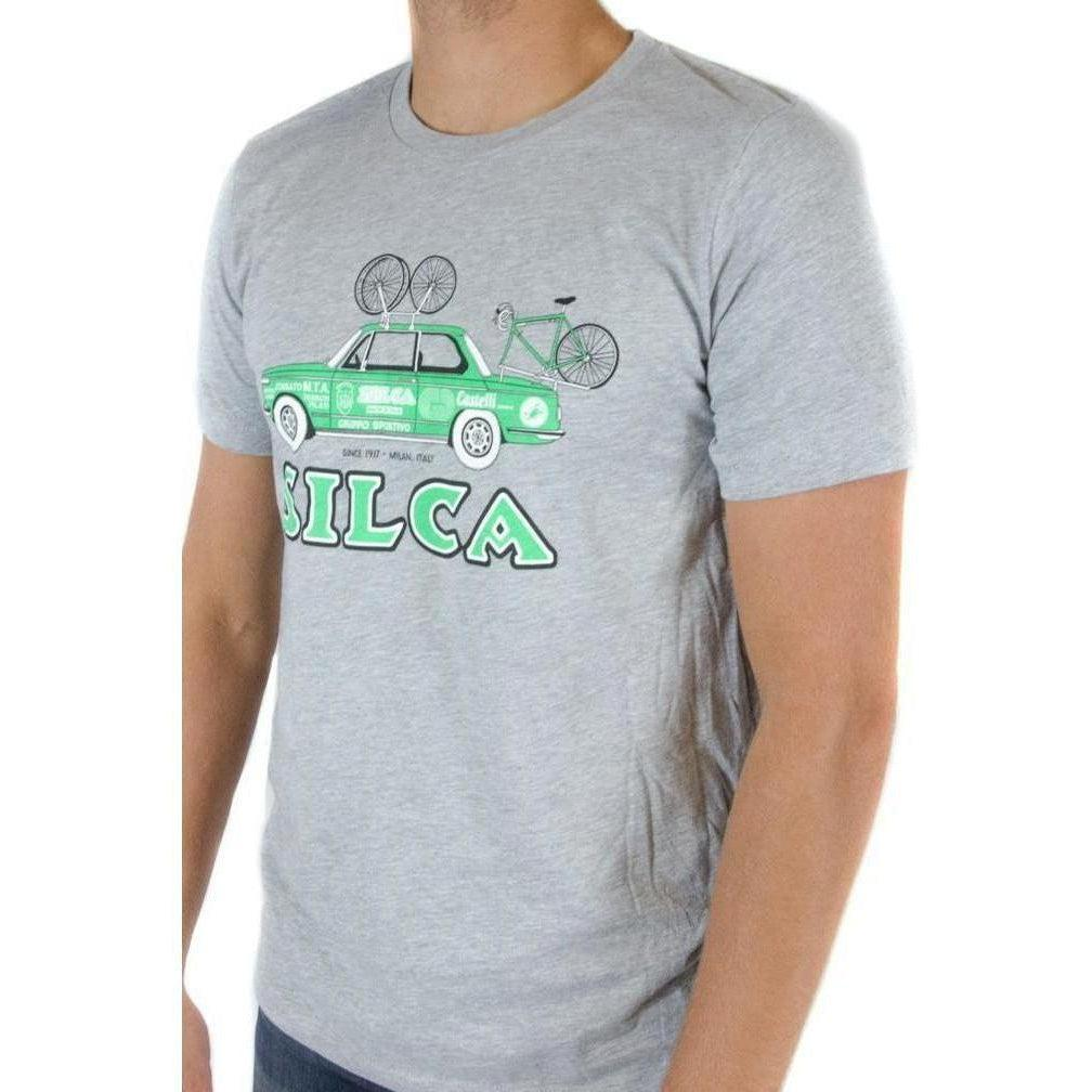 Silca-Silca 1972 BMW 2002 Team Car T-Shirt-Grey/Green-L-SIAMAP003ASY0400GRN-saddleback-elite-performance-cycling