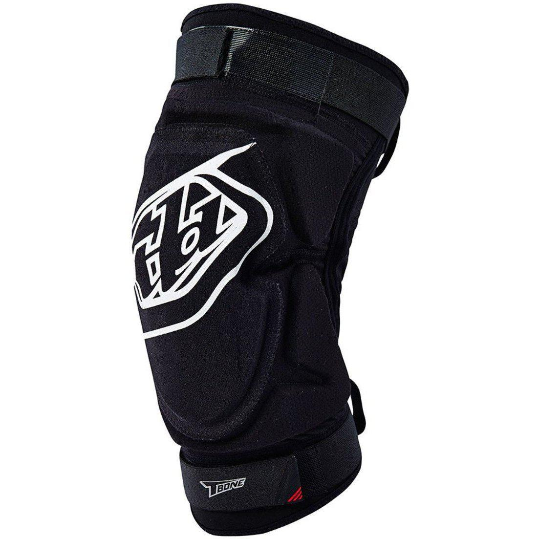 Troy Lee Designs-Troy Lee Designs T-Bone Lightweight Knee Guards-BLACK-XS-S-TLD543003221-saddleback-elite-performance-cycling