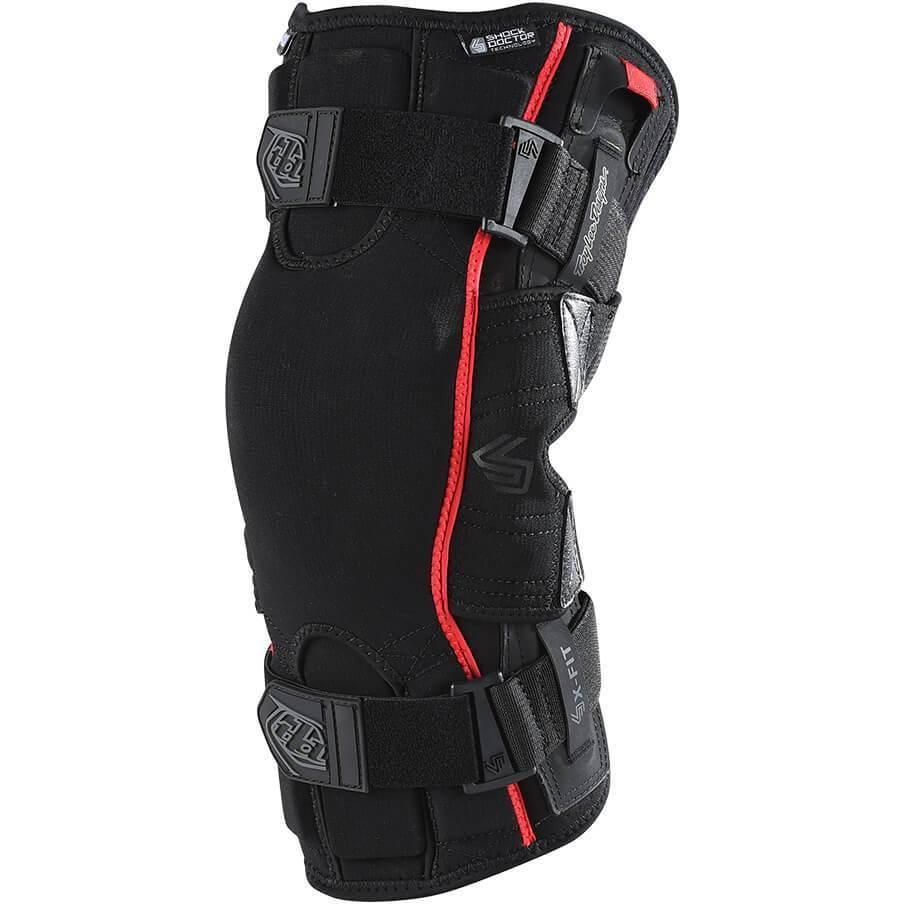 Troy Lee Designs-Troy Lee Designs 6400 Knee Brace-Black-S-TLD576003202-saddleback-elite-performance-cycling