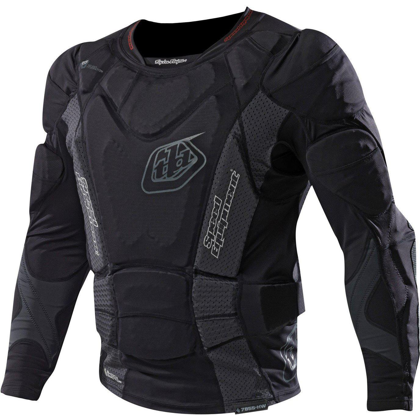 Troy Lee Designs-Troy Lee Designs 7855 Upper Protection Long Sleeve Shirt-BLACK-XL-TLD510003208-saddleback-elite-performance-cycling
