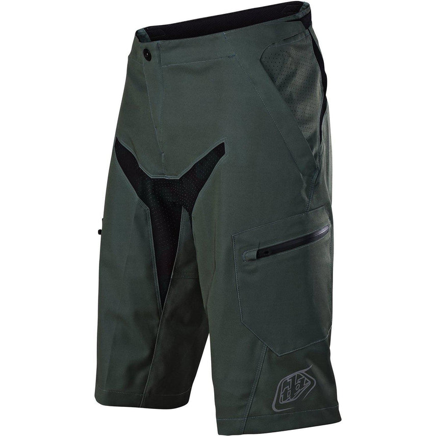 Troy Lee Designs-Troy Lee Designs Moto Shorts - Shell Only-Green/Black-30-TLD225003312-saddleback-elite-performance-cycling