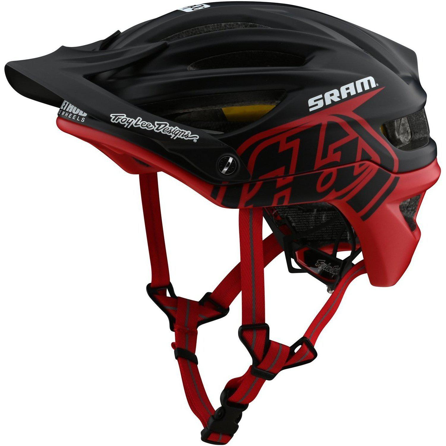 Troy Lee Designs-Troy Lee Designs A2 MIPS Helmet-Decoy - Sram Black/Red-M/L-TLD191485063-saddleback-elite-performance-cycling