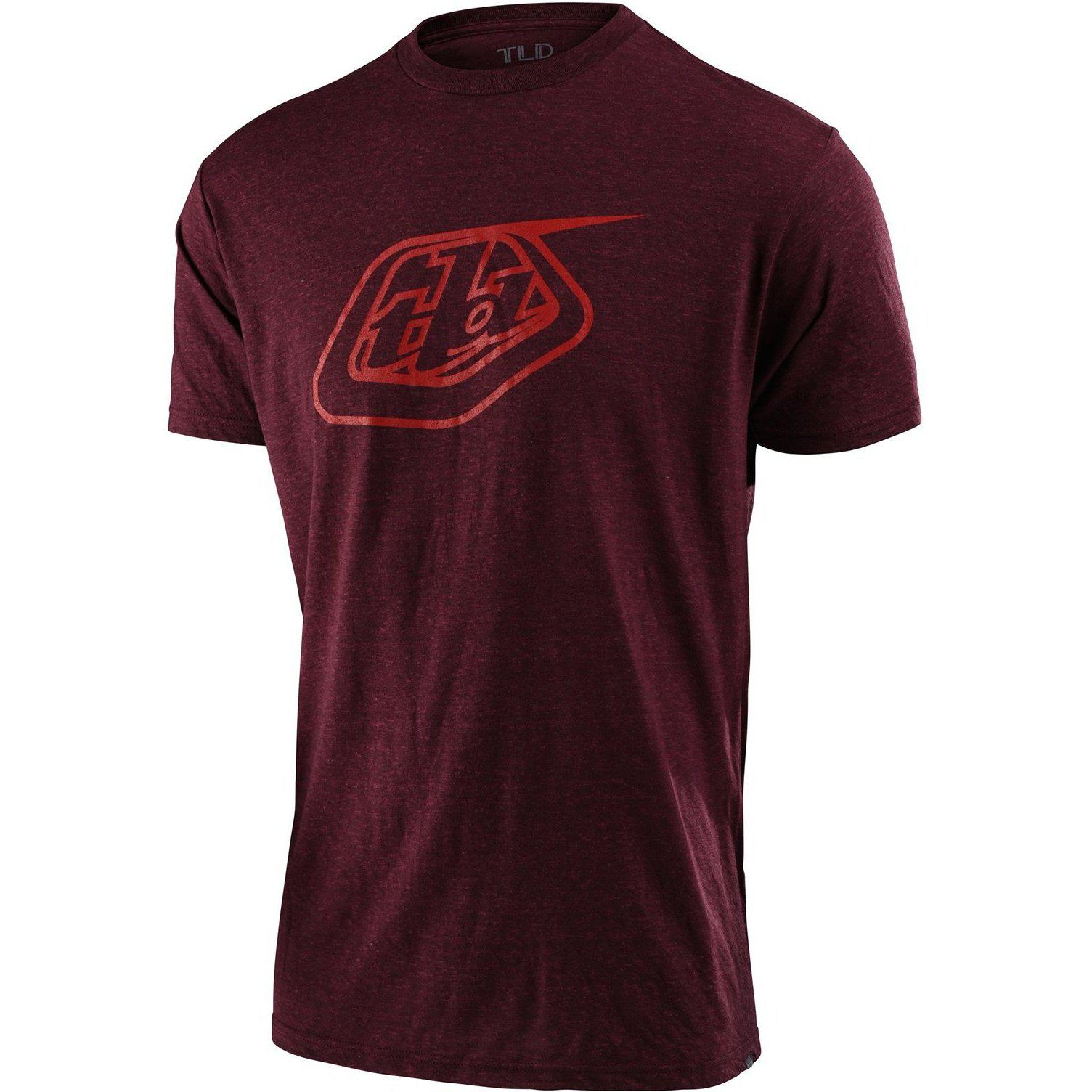 Troy Lee Designs-Troy Lee Designs Logo Tee-Sangria-S-TLD701817002-saddleback-elite-performance-cycling
