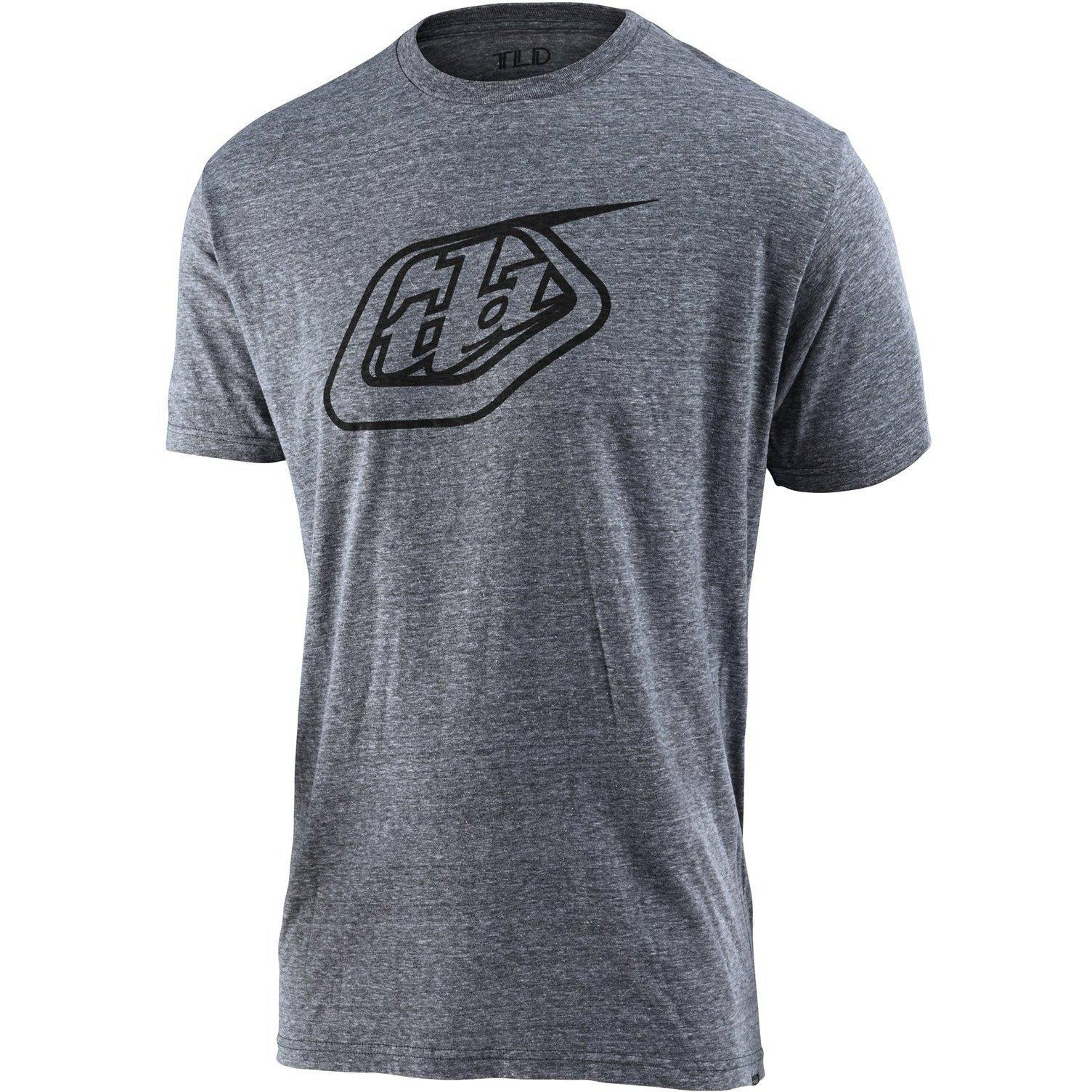 Troy Lee Designs-Troy Lee Designs Logo Tee-Vintage Gray Snow-S-TLD701817012-saddleback-elite-performance-cycling