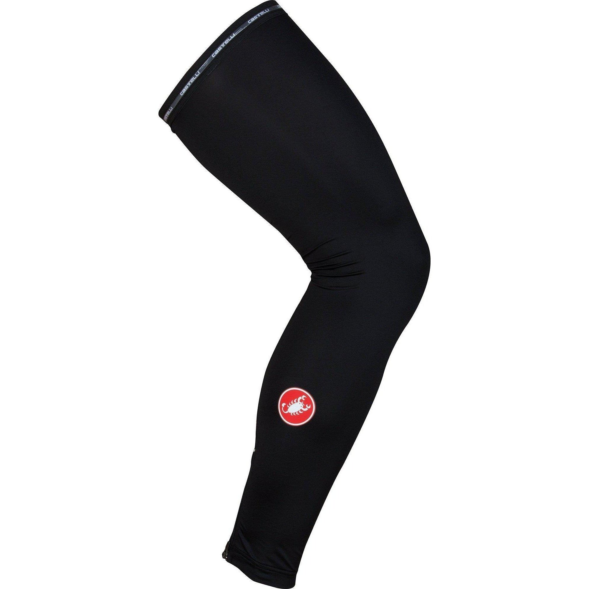 Castelli-Castelli UPF 50+ Leg Sleeves-Black-S-CS160370102-saddleback-elite-performance-cycling