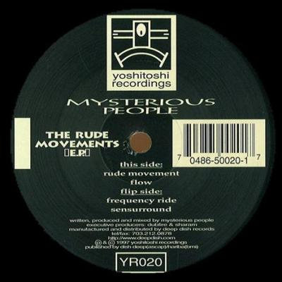 YR020 - Mysterious People - The Rude Movements EP (Vinyl)