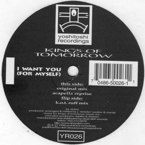 YR026 - KOT - I Want You (For Myself) (Vinyl)