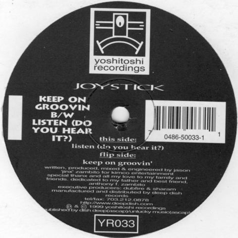 YR033 - Joystick - Keep On Groovin B/W Listen (Do You Hear It) - (Vinyl)