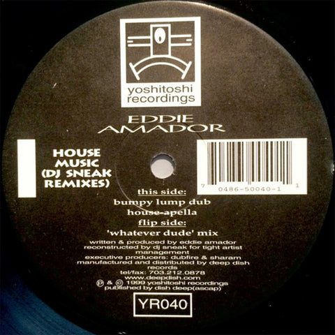 YR040 - Eddie Amador - House Music (DJ Sneak Remixes) - (Vinyl)