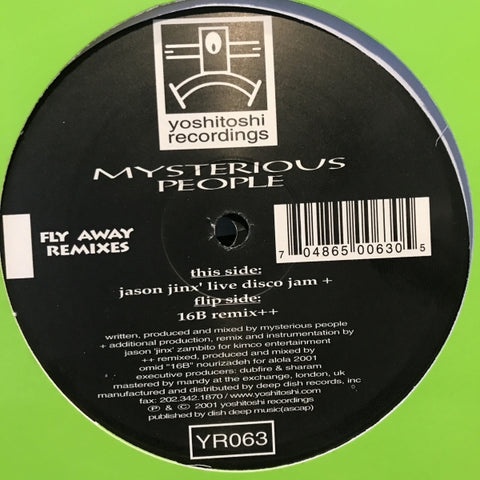 YR063 - Mysterious People - Fly Away (Remixes) - (Vinyl)