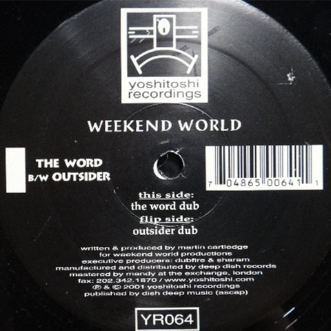 YR064 - Weekend World - The Word b/w Outsider