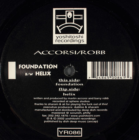 YR086 - Accorsi / Robb - Foundation / Helix (Vinyl)
