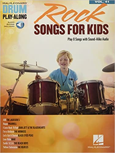 Rock Songs for Kids Drum Play-Along Volume 41 publication cover