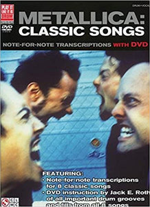 Metallica: Classic Songs for Drum Note-for-Note Transcriptions publication cover