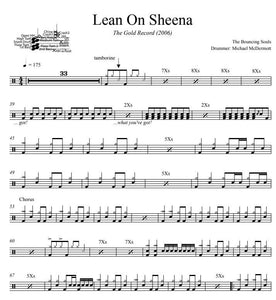 Lean On Sheena - The Bouncing Souls - Full Drum Transcription / Drum Sheet Music - DrumSetSheetMusic.com