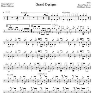 Grand Designs - Rush - Full Drum Transcription / Drum Sheet Music - Drumm Transcriptions