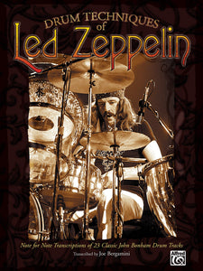 Custard Pie - Led Zeppelin - Collection of Drum Transcriptions / Drum Sheet Music - Alfred Music DTLZNFNT