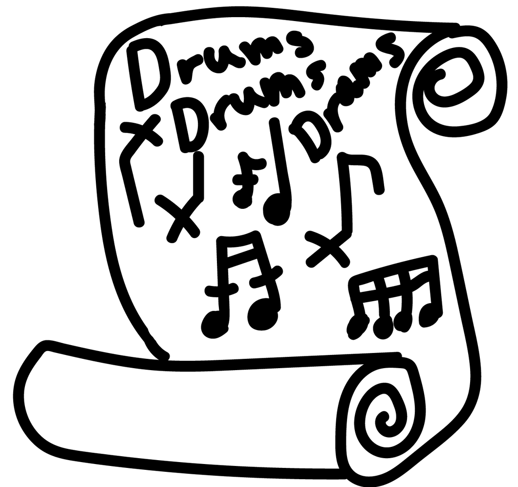 Away Away - Wedding Parties Anything - Full Drum Transcription / Drum Sheet Music - MayMusicStudio.com